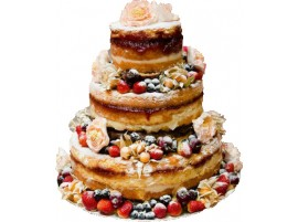 Торт с ягодами и прослойкой из джема