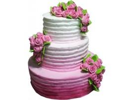 Свадебный торт в лиловых тонах