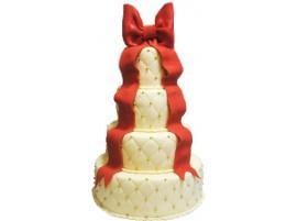 Свадебный торт с украшением в виде банта