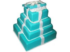 Свадебный торт в виде коробок с подарками