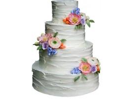 Свадебный торт «Воздушный» четырехъярусный