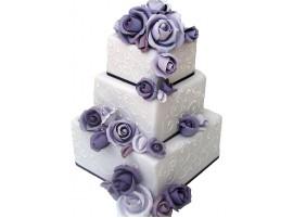 Свадебный торт «Лиловый вечер»