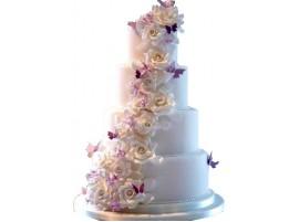 Свадебный торт «Цветочный каскад»