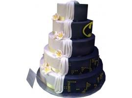 Торт свадебный «Леди и Бэтмен»