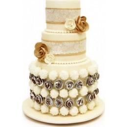 Торт свадебный «Нежные чувства»