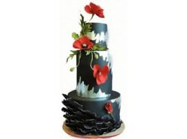 Свадебный торт «Изысканные маки»