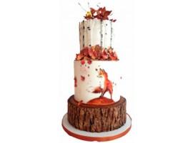 Торт свадебный «Осенний лис»