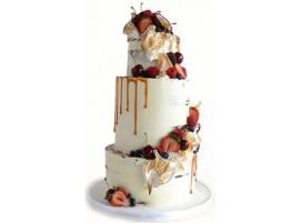 Свадебный торт «Фруктовый каприз»