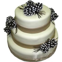 Свадебный торт с шишками № 548