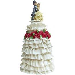 Свадебный торт с фигурками № 552