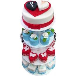 Свадебный торт с пирожными на подставке № 553