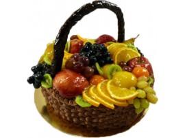 Торт Фруктовая корзина № 570