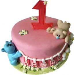 Детский торт С первым годиком № 593