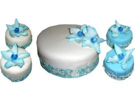 Свадебный торт с капкейками № 604