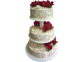 Свадебный торт на подставке № 619