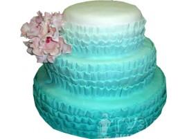 Трехъярусный свадебный торт тиффани № 628