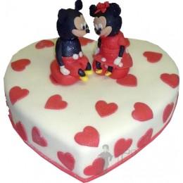 Свадебный торт Микки Маус № 656