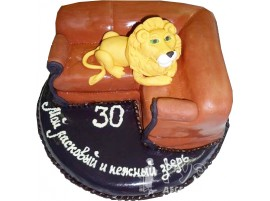 Торт Мой ласковый и нежный зверь № 658