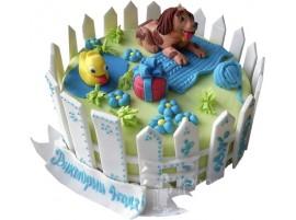Детский торт Чудесная лужайка № 648