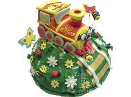 Детский торт Веселый паровозик № 664