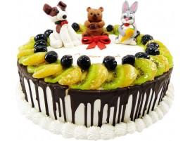 Детский торт Веселые зверушки №140