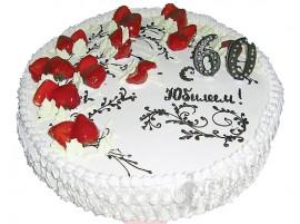 Юбилейный торт Клубничный № 60