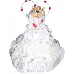 Свадебный торт с фигурками № 240