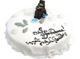 Юбилейный торт Ловись рыбка № 245