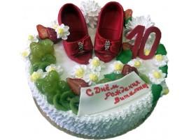 Детский торт Модница № 141