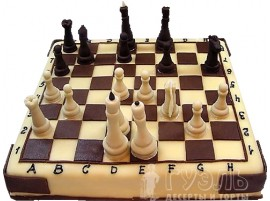 Юбилейный торт Шахматы № 282