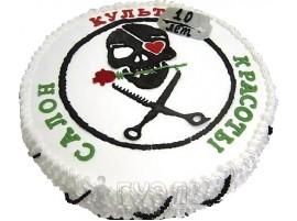 Корпоративный торт Салон красоты Культ № 507