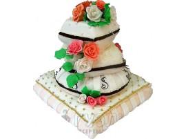 Свадебный торт № 308 Воздушный