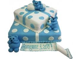 Детский торт Мишки тройняшки № 330