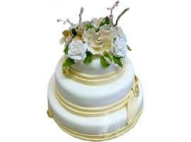 Свадебный торт трехъярусный № 340