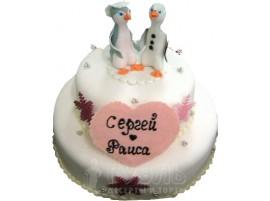 Свадебный торт с именами молодоженов № 369