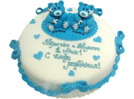 Детский торт Мишки братишки № 377