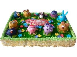 Детский торт Смешарики № 385