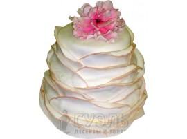 Свадебный торт с большим цветком № 442