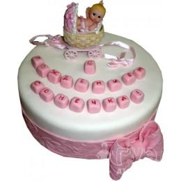 Детский торт С новорожденным № 457