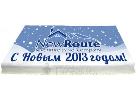 Новогодний корпоративный торт № 526 NewRoute