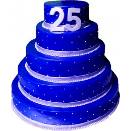 Корпоративный торт 25 лет компании № 12
