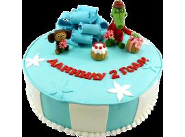 Детский торт Крокодил Гена № 387