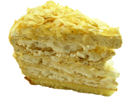 Пирожное Моцарт безе +карамельный крем