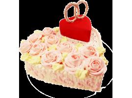 Свадебный торт в форме сердца № 165