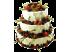Свадебный торт со свежими ягодами № 17