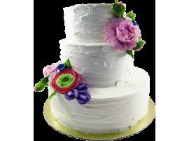 Свадебный торт «Воздушный» трехъярусный № 206