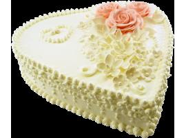 Свадебный торт в виде сердца № 551