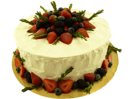 Свадебный торт со свежими ягодами № 204
