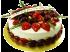 Юбилейный торт Фрукты в сливках № 159