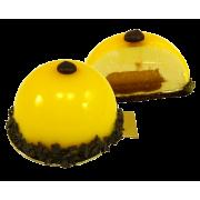 Пирожное муссовое Готье с начинкой манго-маракуя